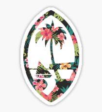 Guam Seal - Floral Sticker