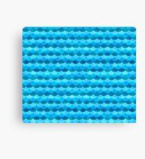 Mermaid Scales / Ocean Waves Canvas Print