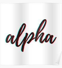 Retro 3D - Alpha Poster
