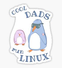 Cool Dads Run Linux Sticker