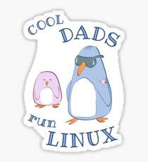 Cool Dads Run Linux Sticker