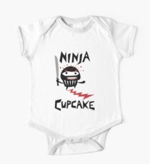 Ninja Cupcake   One Piece - Short Sleeve