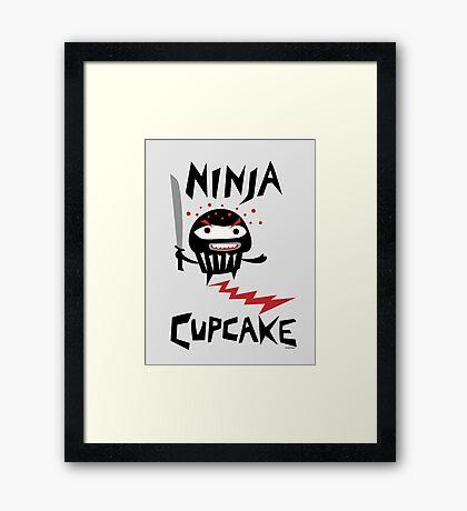 Ninja Cupcake   Framed Print