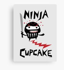 Ninja Cupcake   Canvas Print