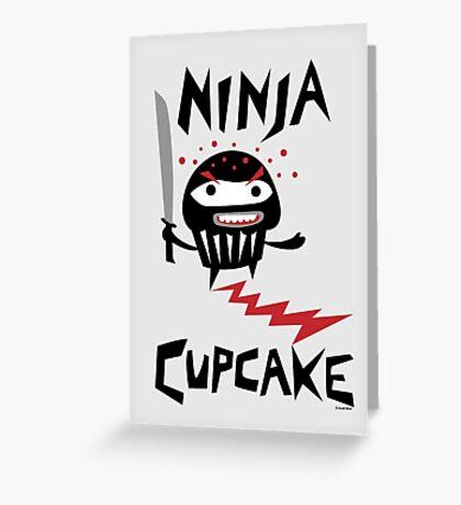 Ninja Cupcake   Greeting Card