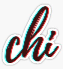 retro 3D - chi Sticker
