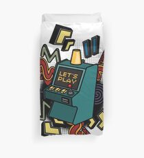 Retro arcade game machine. Duvet Cover