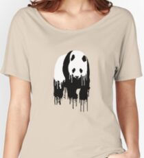 Paint Drip Panda Women's Relaxed Fit T-Shirt
