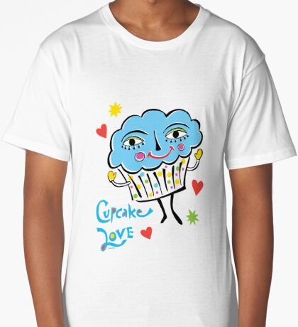 Cupcake Love Long T-Shirt