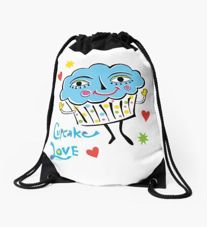 Cupcake Love Drawstring Bag