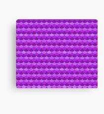 Purple Sea Creature Scales Canvas Print