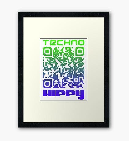 QR Code Technohippy Logo V2 Framed Print