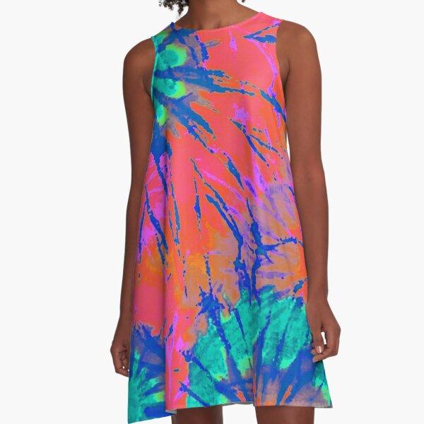 Bindefarbstoff 13 A-Linien Kleid