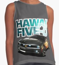 Hawaii Five-O Black Camaro (White Outline) Contrast Tank