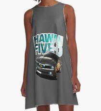 Hawaii Five-O Black Camaro (White Outline) A-Line Dress