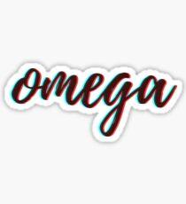 Pegatina retro 3D - omega