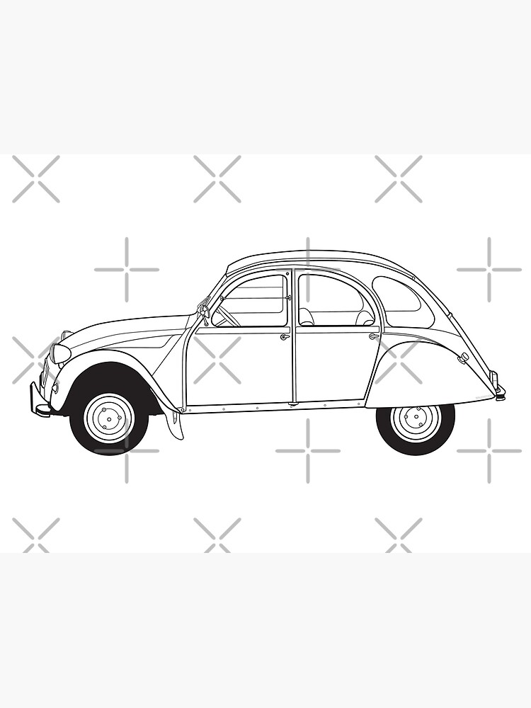 Citroën 2CV Classic Vintage Car by thedrumstick