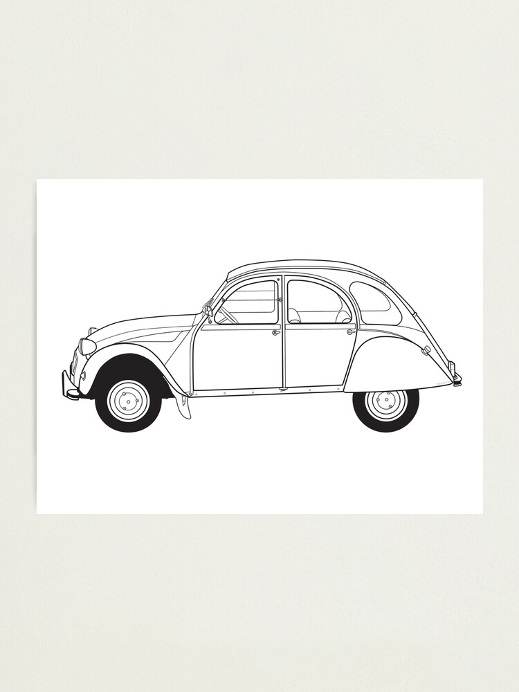 Alternate view of Citroën 2CV Classic Vintage Car Photographic Print