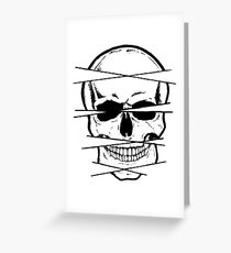 Skull and crossed lines Greeting Card