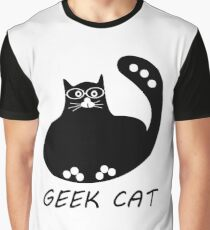 Geek logo black cat with glasses  #rbstaycay Graphic T-Shirt
