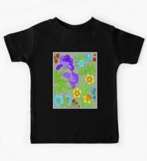 COLORFUL FLOWER: Bright Original Print Kids Tee