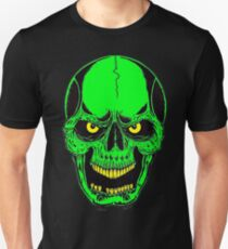 GREEN NEON SKULL - Art By Kev G Unisex T-Shirt