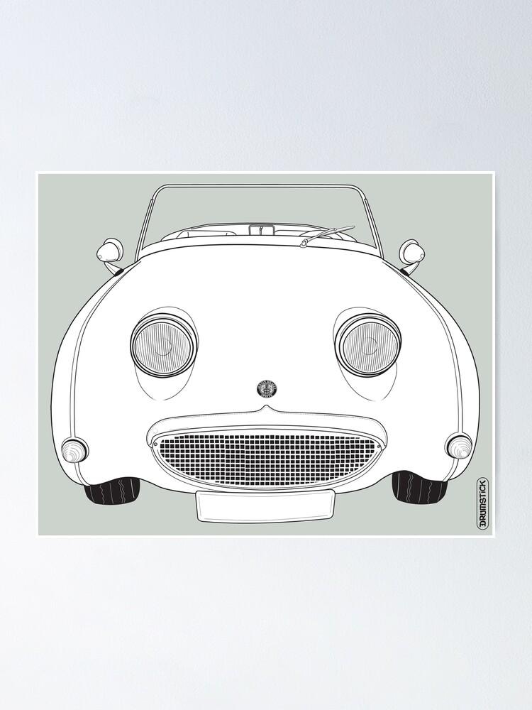 Alternate view of Austin-Healey Sprite Vintage Car Poster