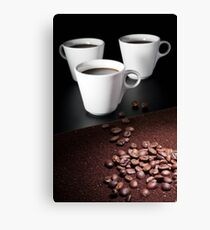 three coffee cups Canvas Print