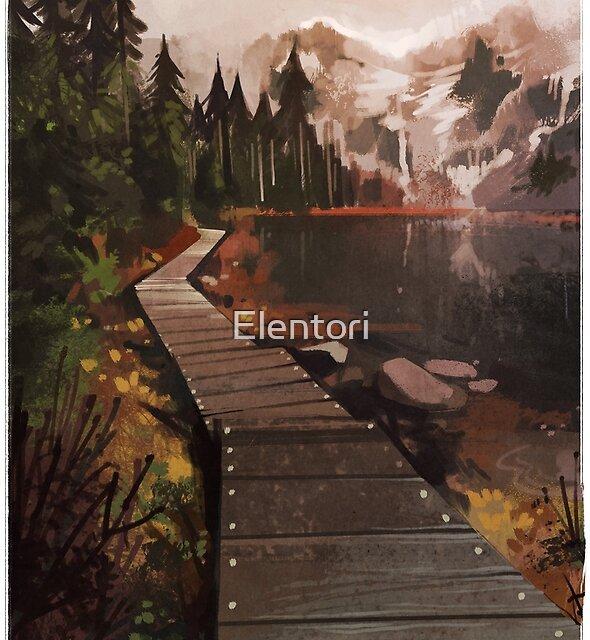 Mountain Path by Elentori