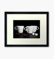 coffee cup Framed Print