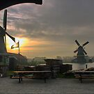 Windmills of Amsterdam (12) by Larry Lingard-Davis