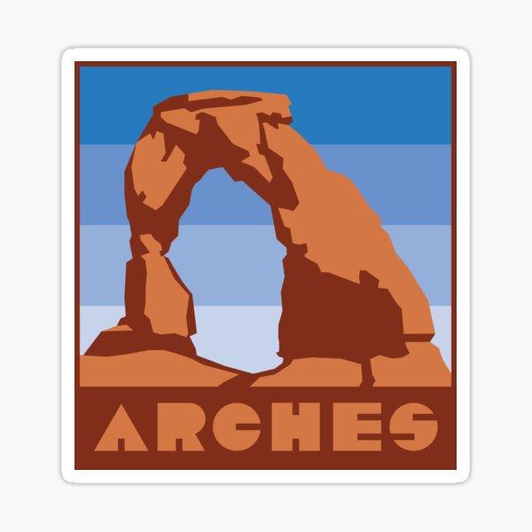Updated Arches Nat'l Park Stickers Sticker