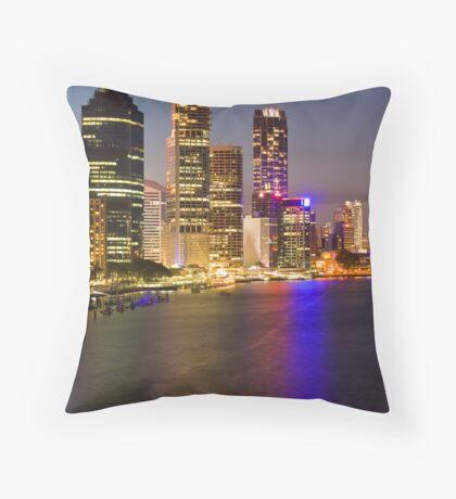 Brisbane City Reflections Throw Pillow