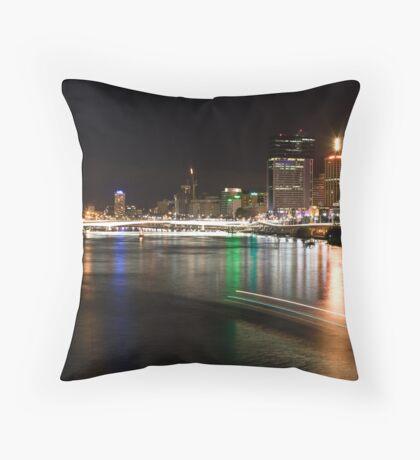 Brisbane at Night Throw Pillow