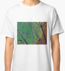 Colorful Green and Red Bough Design Classic T-Shirt