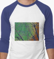 Colorful Green and Red Bough Design T-Shirt