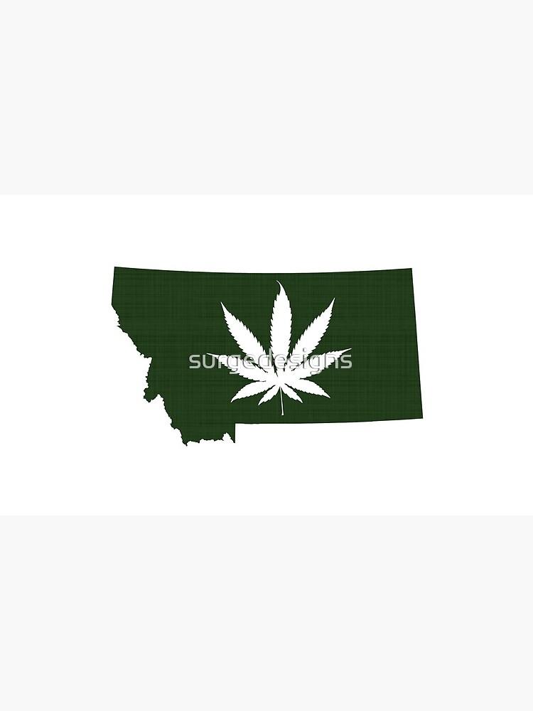 Marijuana Leaf Montana by surgedesigns