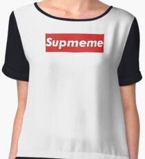 """Supreme Box Logo - """"Supmeme"""" Chiffon Top"""