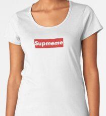 """Supreme Box Logo - """"Supmeme"""" Women's Premium T-Shirt"""