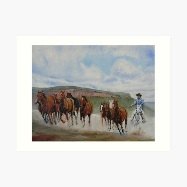 THE MAN FROM SNOWY RIVER Art Print