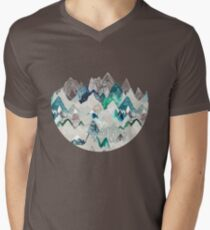 Call of the Mountains (in evergreen)  Men's V-Neck T-Shirt