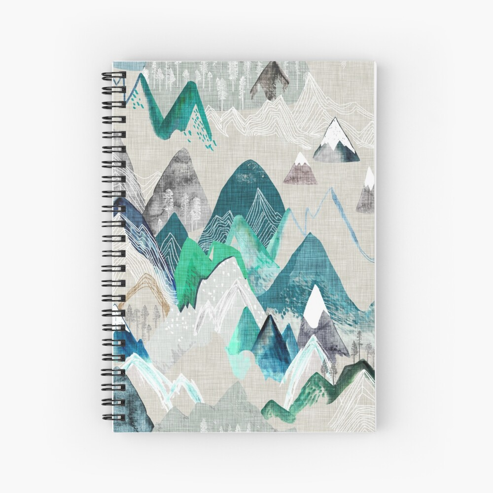 Call of the Mountains (in evergreen)  Spiral Notebook