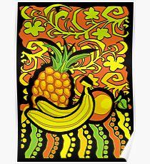 vivid tropical still life Poster