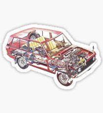 Range Rover Classic Cutaway Sticker