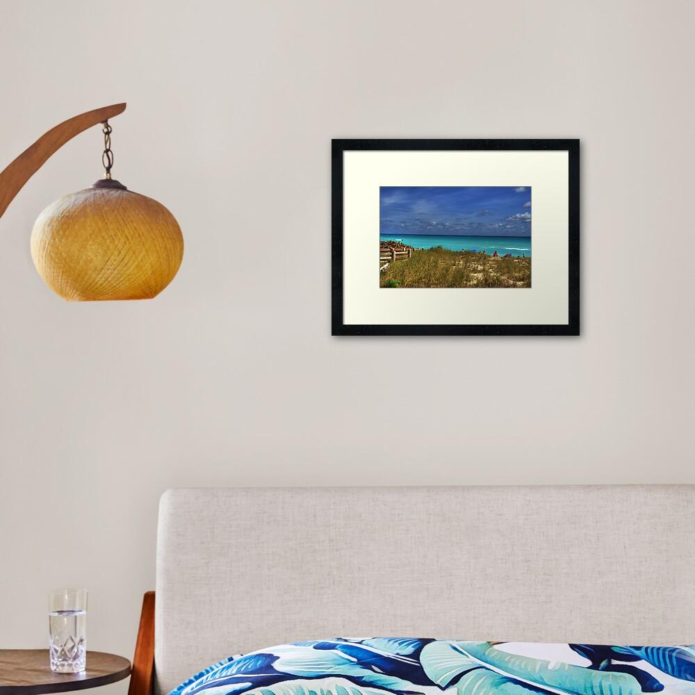 Beach Hike Framed Art Print