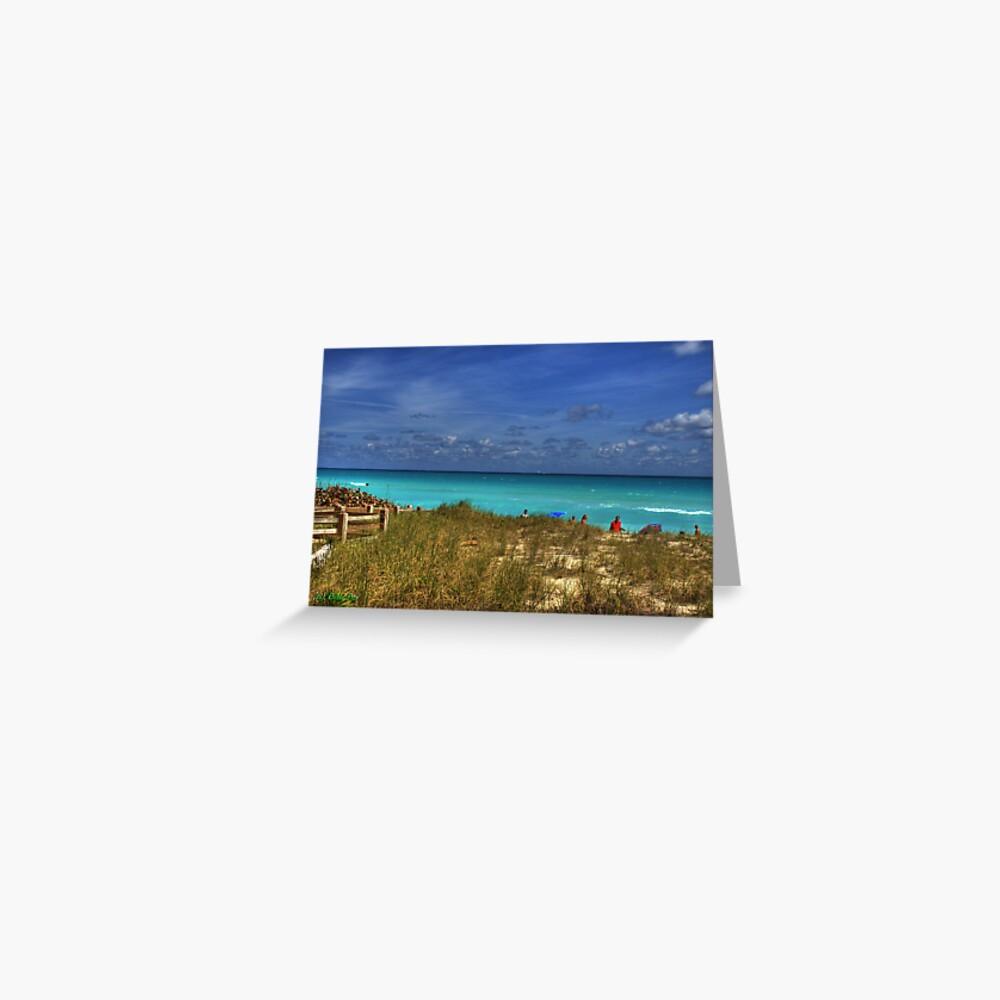 Beach Hike Greeting Card