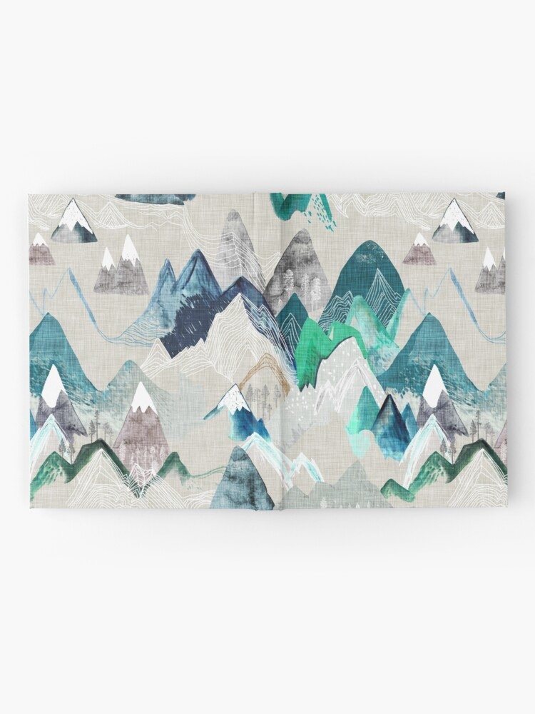 Alternate view of Call of the Mountains (in evergreen)  Hardcover Journal