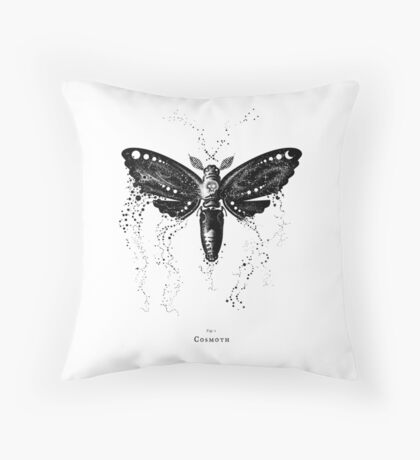Cosmoth, Mother of the Universe Throw Pillow
