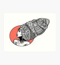 Tribal Head Piece Art Print