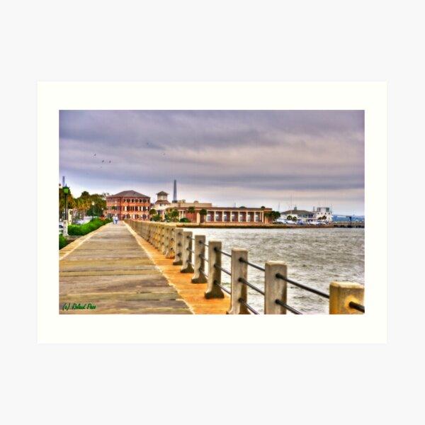 Charleston Harbour Art Print